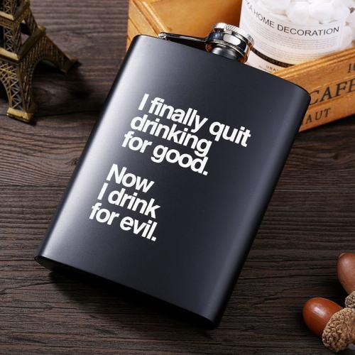 I Finally Quit Drinking For Good Now I Drink For Evil Flask Kit