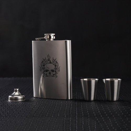 Skull Flask Custom Flask Personalized Hip Flask Halloween Gift