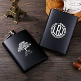 Personalized Square Monogram Flask