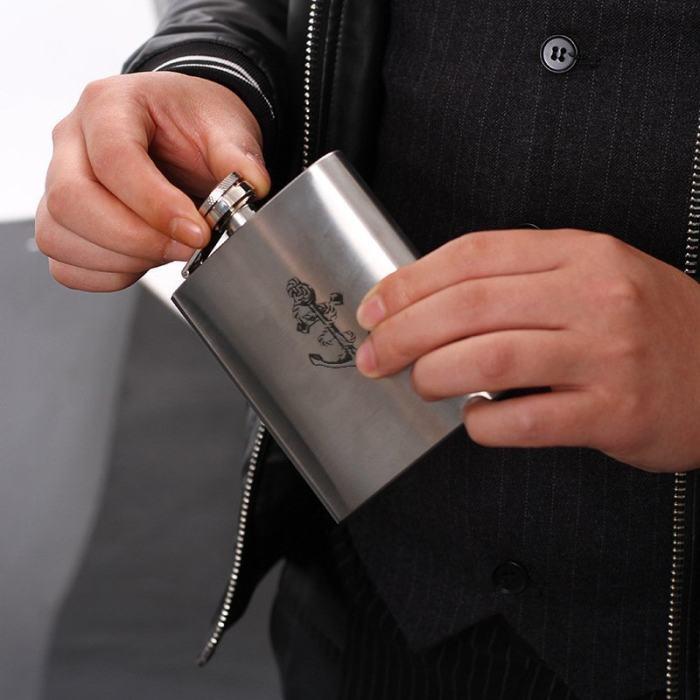 Yoga Symbol Flask