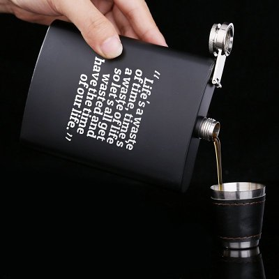 Life's Waste of Time Flask