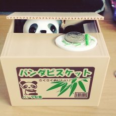 Panda Thief Coin Bank Gift for Children Kids