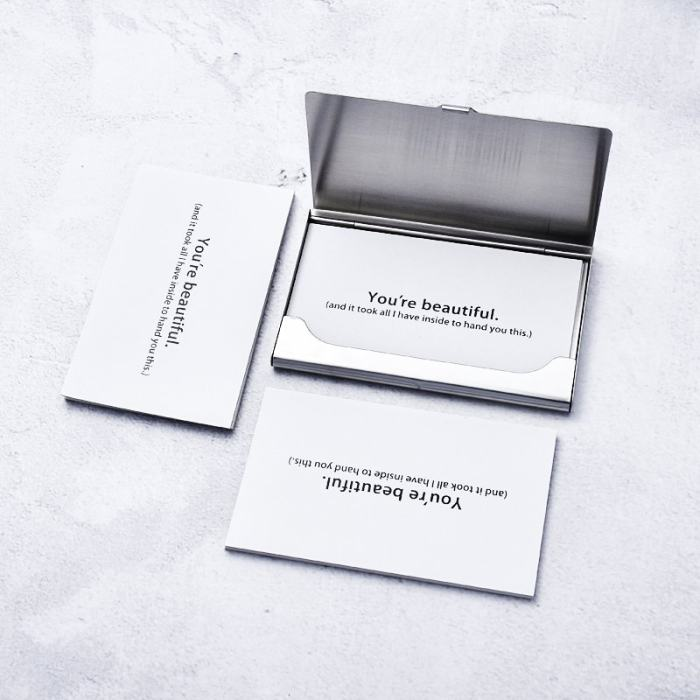 Personalized Business Card Box