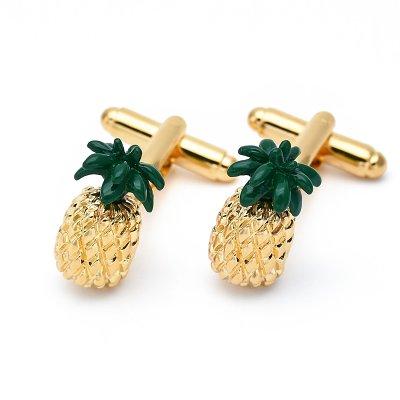 Golden Pineapple Cufflinks