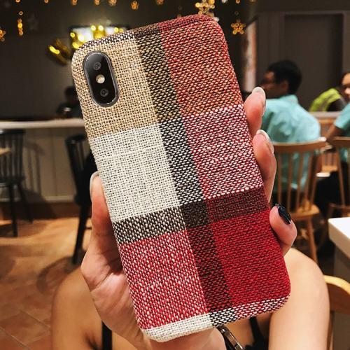 Red Scottish Tartan iPhone Case