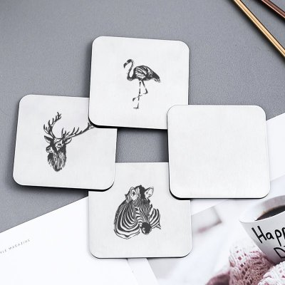 Personalized Stainless Steel Coasters