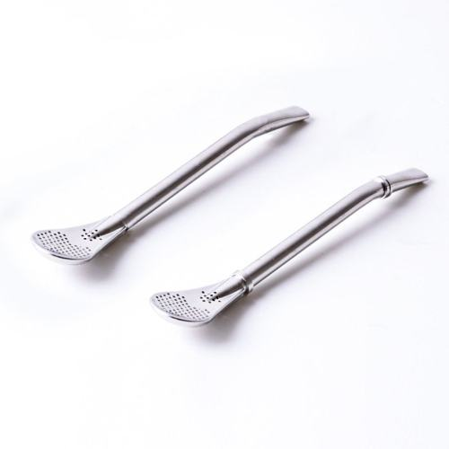 Stainless Steel Spoon Straw 2Pcs