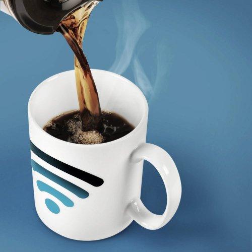 Hot Spot Color Changing Mug WiFi Signal Mug Ceramic Cup Temperature Control Cup Personalized Mug