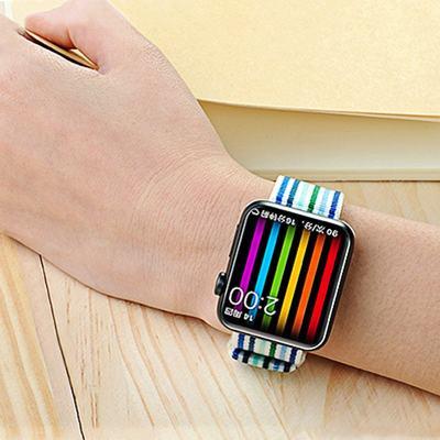 Rainbow Nylon Apple Watch Band