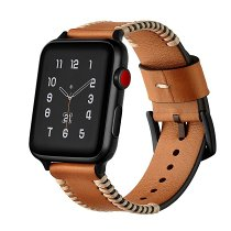 Stitched Leather Apple Watch Band