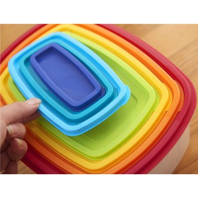 7 PCS Rainbow Food Storage Box