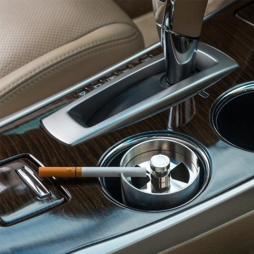 Stainless Steel Car Ashtray for Sedan Truck Lorry Office Personalized Gift for Him Father