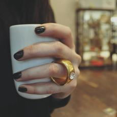 Two-Carat Gold Engagement Ring Cup