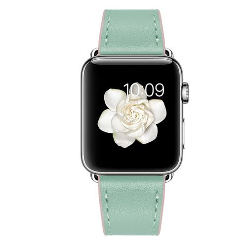 Green Leather Apple Watch Band
