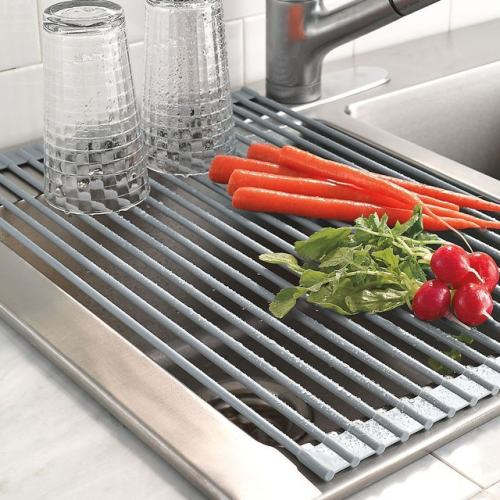 Roll-Up Over-Sink Drying Rack