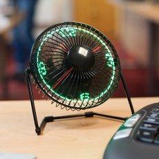 LED Desktop Clock Fan