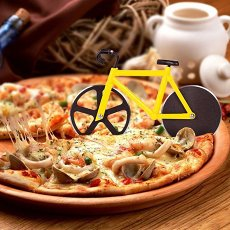 Fixie Bicycle Pizza Cutter Bumblebee