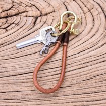 Handcrafted Brass Shackle Keychain