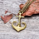 Brass Anchor Necklace