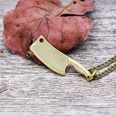 Brass Kitchen Knife Necklace