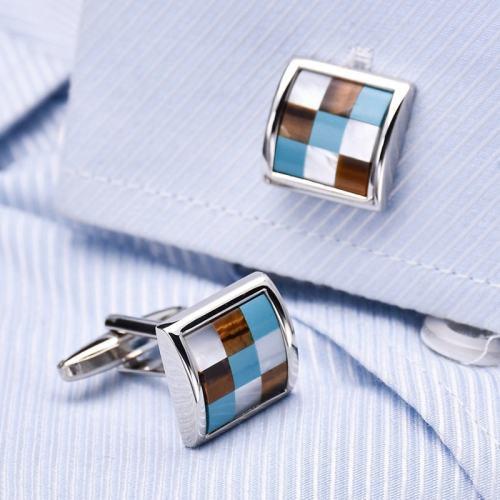 Business Style Lattice Cufflinks