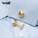 Braided Gold Cufflinks