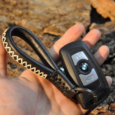 Warriors Leather Strap Keychain