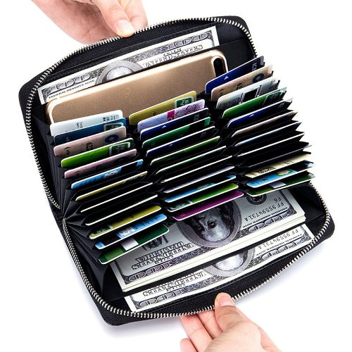 High Capacity 36 Card Slots RFID Wallet