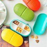 Pill Box Pill Organizer Medication Travel Container Vitamins Fish Oil Box