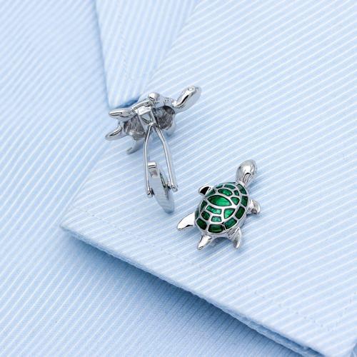Green Turtle Cufflinks
