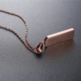 Personalized Rose Gold Brick Necklace