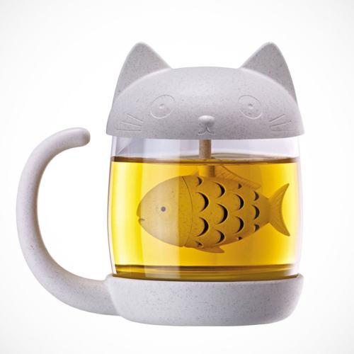 Fish Tea Infuser Cat Mug