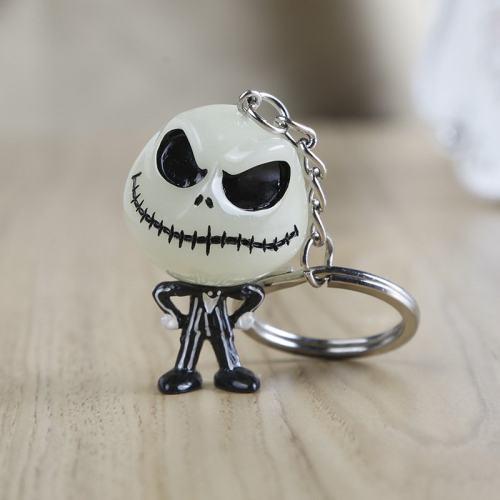 Halloween Skull Keychain