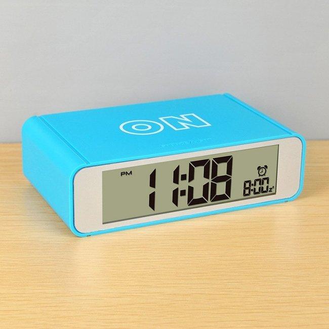 Flip On/Off Alarm Clock