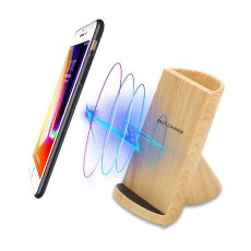 Wood Grain Wireless Charging Pen Container