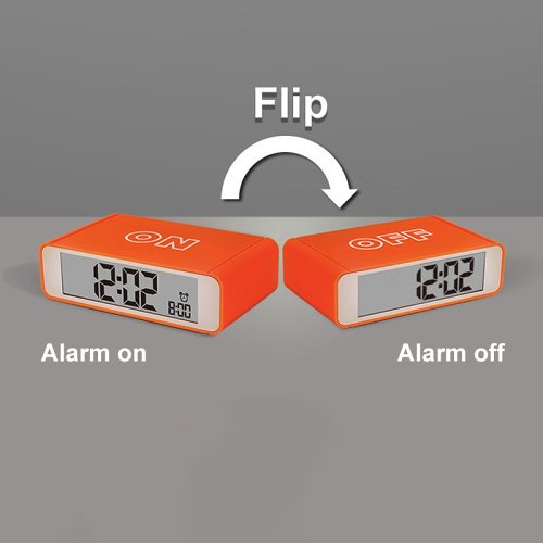 Flip On/Off Alarm Clock