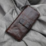 High Capacity Waxed Leather Wallet