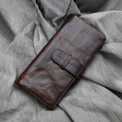 Personalized Classic Waxed Leather Wallet Gift for Him