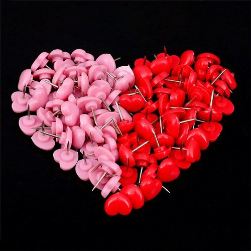 Red Heart Push Pins