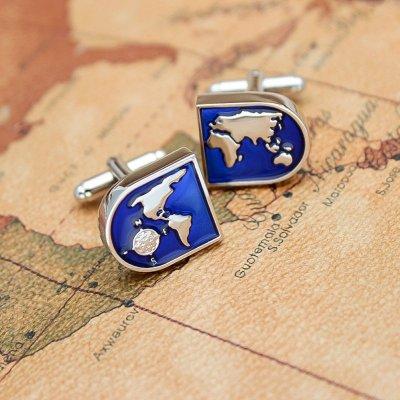 The World Map Cufflinks
