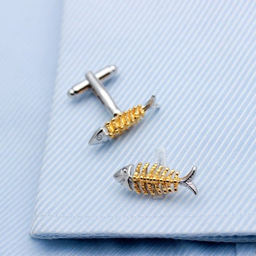 Fish Bone Cufflinks