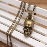 Brass Skull Necklace