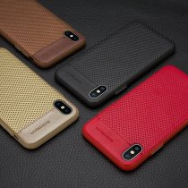 Business Style Perforated Leather iPhone Case