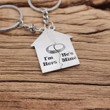 I'm Hers He Is Mine Keychain