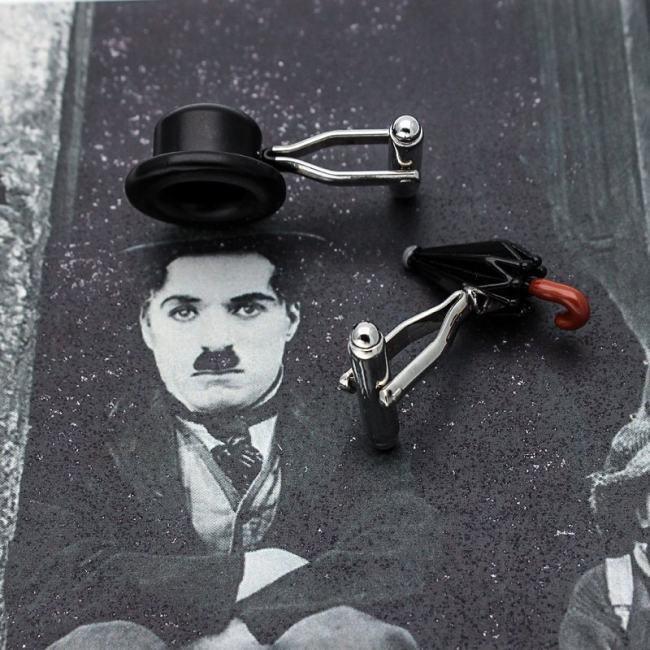 Chaplin's Hat & Umbrella Cufflinks