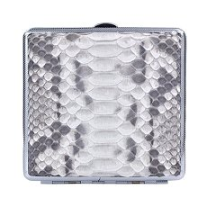 Genuine Python Skin Cigarette Case