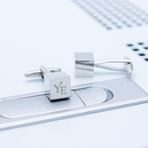 Personalized Iron Cube Cufflinks