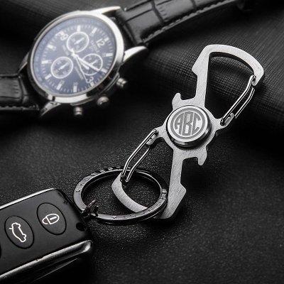 Monogram Spinner Opener Carabiner Keychain