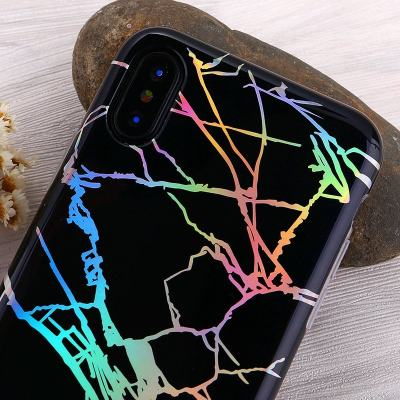 Laser Gold and Black Marble iPhone Case