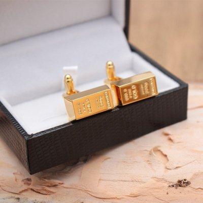 Gold Bar Cufflinks